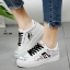 รองเท้าผ้าใบ หนัง PU Flashion-White 9201 [สีขาว]