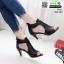 รองเท้าส้นสูง ซิปหลัง 350-209-ดำ [สีดำ] thumbnail 2