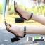 รองเท้าลำลองแบบสวมรัดส้น สไตล์แบรนด์ LV 1816-BLK [สีดำ]