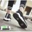 รองเท้าผ้าใบทรงสวม ทรงยอดฮิต F02-SIL [สีเงิน] thumbnail 5