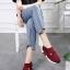 รองเท้าผ้าใบไร้เชือก chanel sneaker 8202-301-RED [สีแดง] thumbnail 4
