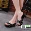 รองเท้าลำลองส้นเตารีด 18-1357-BLK [สีดำ] thumbnail 2