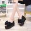 รองเท้าแบบสวมทรงเตารีด ST950-BLK [สีดำ] thumbnail 1