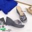 รองเท้าส้นเตารีดแบบสวม 8980-15-GRA [สีเทา] thumbnail 3