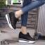 รองเท้าผ้าใบเสริมส้น งานนำเข้า100% ST315-BLK [สีดำ] thumbnail 4