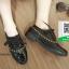 รองเท้าคัทชูส้นสูงสีขาว สวยเก๋หวานๆ (สีดำ ) thumbnail 2