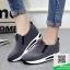 รองเท้าผ้าใบไร้เชือกสีเทา แนวสตรีท (สีเทา ) thumbnail 2
