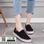 รองเท้าผ้าใบทรงกระชับเท้า C172F2-BLK [สีดำ] thumbnail 1