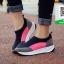 รองเท้าผ้าใบเสริมส้นสีน้ำตาล ทรงสปอร์ต แนวฟิวชั่น (สีน้ำตาล ) thumbnail 1