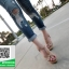 รองเท้าส้นสูงรัดส้นสีครีม YSL Tribute-Platfofm (สีครีม ) thumbnail 3