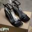 รองเท้าส้นสูงรัดส้น เปลือยเท้า G-1382-BLK [สีดำ] thumbnail 4