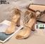 รองเท้าส้นแท่งหุ้มท้าย ST85111-GLD [สีทอง] thumbnail 4