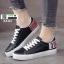 รองเท้าผ้าใบนำเข้า สไตล์เกาหลี K0416-BLACK [สีดำ] thumbnail 1