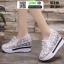 รองเท้าผ้าใบเสริมส้นแบบสวม ST319-WHI [สีขาว] thumbnail 2
