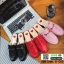 รองเท้าส้นแบน ทรงเปิดส้นหลัง วัสดุ PU G-1353-RED [สีแดง] thumbnail 2