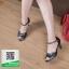 รองเท้าส้นสูงรัดส้นสีดำ Peep Toe High Heel (สีดำ ) thumbnail 2