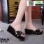 รองเท้าลำลองส้นเตารีด 18-1357-BLK [สีดำ] thumbnail 1