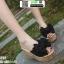 รองเท้าแบบสวมส้นเตารีด ST02-BLK [สีดำ]