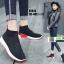 รองเท้าผ้าใบถุงเท้าแบบสวม ST013-RED [สีแดง] thumbnail 2