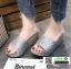 รองเท้าส้นเตารีด หน้าสวมหนังนิ่มแต่งกากเพชร 1902-SIL [สีเงิน] thumbnail 2