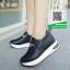 รองเท้าผ้าใบทรงมัฟฟินสีดำ งานนำเข้า สไตล์เกาหลี (สีดำ )