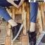 รองเท้าผ้าใบสไตล์เกาหลี ST888-BLK [สีดำ] thumbnail 3