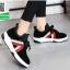 รองเท้าผ้าใบแฟชั่นหุ้มข้อสีดำ สไตล์เกาหลี (สีดำ ) thumbnail 3