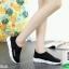 รองเท้าผ้าใบสีดำ ผ้าทอ สไตล์ Balenciaga (สีดำ ) thumbnail 2