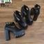 รองเท้าคัชชูขัดข้อเปิดหน้าส้นแท่ง งานนำเข้า100% ST989-BLK [สีดำ] thumbnail 5