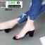 รองเท้าลำลอง สไตล์ maxi RU45-BLK [สีดำ]