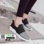 รองเท้าผ้าใบแบบสวมไรเชือก แต่งสีทูโทน B-3-BLK [สีดำ] thumbnail 5