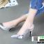 รองเท้าส้นสูงหัว แหลมรัดส้น B29-005-SIL [สีเงิน] thumbnail 3