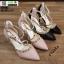 รองเท้าคัชชูรัดข้อหุ้มส้นเปิดข้าง ST8982-PNK [สีชมพู] thumbnail 5