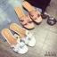 รองเท้าแตะเปิดส้น สไตล์ H ฉลุลาย G-1415-WHI (สีขาว) thumbnail 6