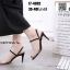 รองเท้าส้นสูง วัสดุหนังกำมะหยี่ 17-4092-BLK [สีดำ] thumbnail 3
