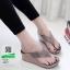 รองเท้าเตารีด เสริมส้นหูคีบ หน้าเพรชวิ้งๆ 6047-เทา [สีเทา] thumbnail 2