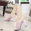 รองเท้านำเข้า100% ส้นแท่งแบบสวม ST335-PNK [สีชมพู] thumbnail 1