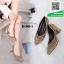 รองเท้าคัทชูหัวแหลมสีเทา แต่งกริตเตอร์ (สีเทา ) thumbnail 1