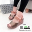 รองเท้าส้นเตารีดรัดข้อ หนังเงา 7797-4-ตาล [สีตาล] thumbnail 3
