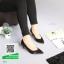 รองเท้าคัทชูส้นสูงสีดำ รัดส้น หัวแหลม (สีดำ )