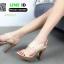รองเท้าส้นสูงเสริมหน้า ส้น pu ลายไม้ 318311-CRE [สีครีม] thumbnail 2