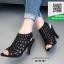 รองเท้าส้นสูง ฉลุลาย G711727-BLK [สีดำ] thumbnail 2