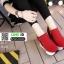 รองเท้าผ้าใบสไตล์เกาหลี ซิปข้าง เสริมส้นด้านในให้ รวม 4นิ้ว A-08-แดง [สีแดง] thumbnail 1