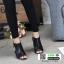 รองเท้าส้นสูง ฉลุลายสุดหรู 711102-BLACK [สีดำ ] thumbnail 3