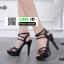 รองเท้าส้นสูงรัดข้อเปิดท้าย 18-1362-BLK [สีดำ] thumbnail 2