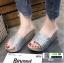 รองเท้าส้นเตารีด หน้าสวม กากเพชร 1902-SIL [สีเงิน] thumbnail 2