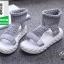 รองเท้าแตะหุ้มข้อสีเทา ใส่หน้าหนาว (สีดำ ) thumbnail 4
