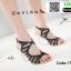 รองเท้าส้นแก้วใส สไตล์เกาหลี 17-2313-BLK [สีดำ] thumbnail 2