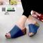 รองเท้าส้นเตารีดหน้าเต็ม 960-15-น้ำเงิน [สีน้ำเงิน] thumbnail 2