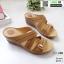 รองเท้าสุขภาพหน้าไขว้ งานขายดีอันดับ 1 8849-1-น้ำตาล [สีน้ำตาล ] thumbnail 2